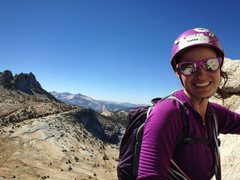Rock Climbing Photo: Halfway up Cathedral Peak in Tuolumne Meadows