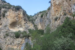 Rock Climbing Photo: Approach gull and first set of routes on the right...