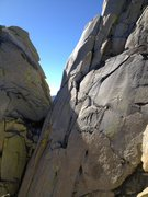 Rock Climbing Photo: You can see the dihedral on the second pitch of Fa...