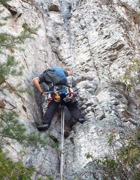 Rock Climbing Photo: leading at seneca rocks