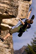 Rock Climbing Photo: getting air