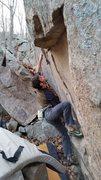 Rock Climbing Photo: Big first move