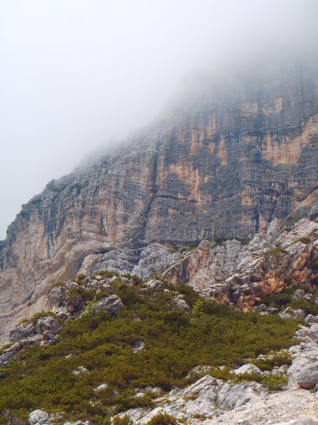Rock Climbing Photo: The route follows the black water streak just left...