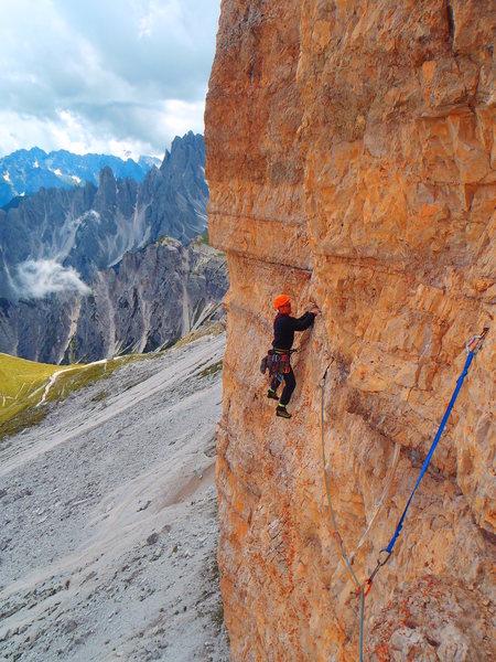 Rock Climbing Photo: Pitch 6 traverse