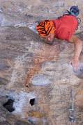 Rock Climbing Photo: Reaching for that crux sloper...