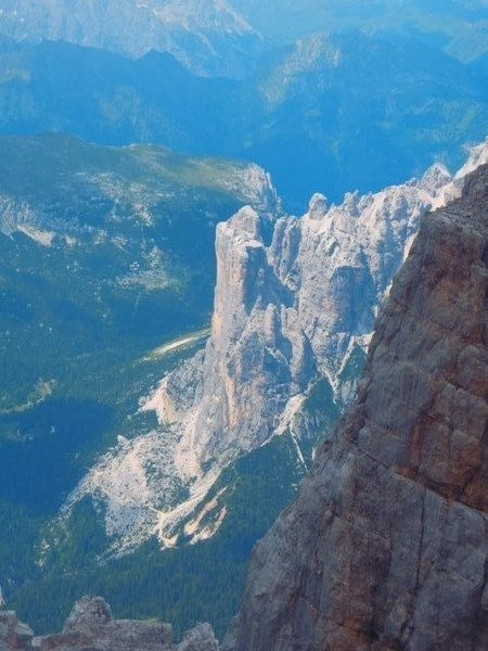 Rock Climbing Photo: A view from Moiazza looking down on Torre Venezia ...