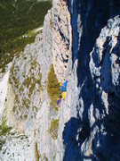 "Rock Climbing Photo: The ""40 meter traverse"" pitch"