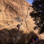 Rock Climbing Photo: Kyle C onsighting Illusion Dweller