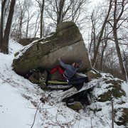Rock Climbing Photo: Awesome new line in the area.