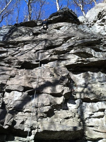 Rock Climbing Photo: 10ft from topping out on the Flying Dutchman.