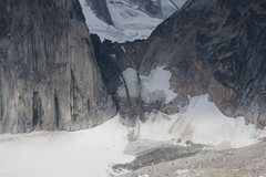 Bugaboo-Snowpatch col melted out, August 2014.