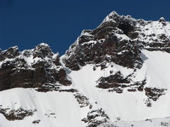 Rock Climbing Photo: The Eleven O'clock Gully in deep snow conditions, ...