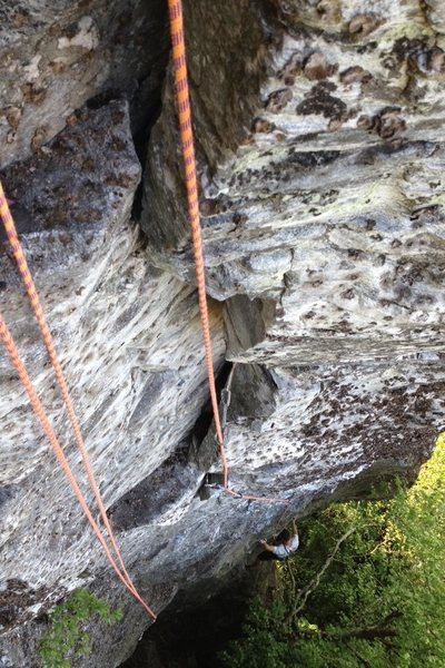 Rock Climbing Photo: In the lower crux section.