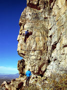 Rock Climbing Photo: Unknown climbers on Bound for Glory.