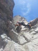Rock Climbing Photo: Epic butt shot. Phil Wortmann slaying the crux!