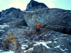 Rock Climbing Photo: The wild, awesome, chossy traverse on P1.