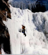Rock Climbing Photo: RANDALL CHALNICK CLIMBING LOWER FALLS ON KAATERSKI...