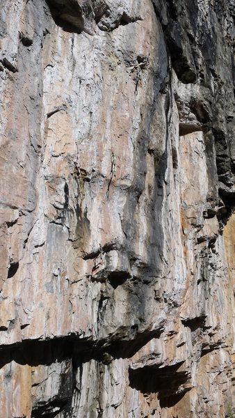 Crap photo of a great climb.