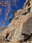 Rock Climbing Photo: Paul Horton at the base of Photo Finish.