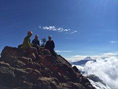 Rock Climbing Photo: Chilling on Illiniza Norte Summit