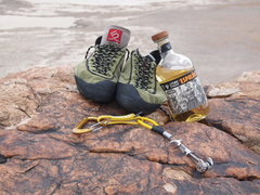 Rock Climbing Photo: Some generous soul left a full bottle of tequila i...