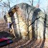 Jay Shultis climbing Golden Showers