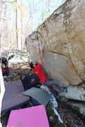 Rock Climbing Photo: AAron Parlier on his FA of Champions Arete