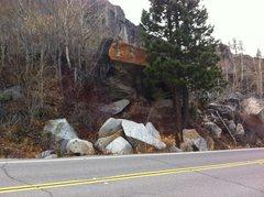 Rock Climbing Photo: Aspen Boulder from the road.