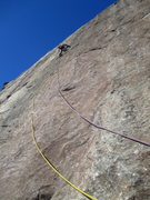 Rock Climbing Photo: The second pitch of Peelin' Feelin', with surprisi...