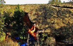 Rock Climbing Photo: Start beta of Crazy Charly.