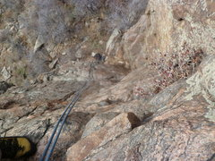 Rock Climbing Photo: Looking down from about 3/4s of the way up.