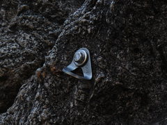 "Rock Climbing Photo: ""Valdez"" protection bolt."