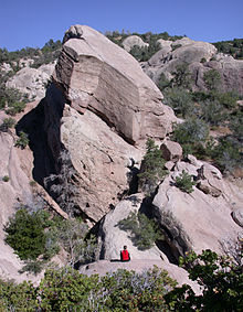 Devil's Punchbowl rock formation.