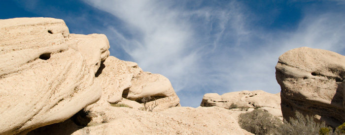 Some of the amazing rock formations at the Devil's Punchbowl.