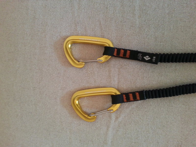 Rock Climbing Photo: Upgraded BD Spinner leash with Metolius FS mini 'b...