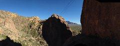 Rock Climbing Photo: Setting up the Tyrollean