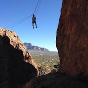 Rock Climbing Photo: Crossing the chasm;)