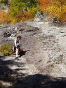 Rock Climbing Photo: Cody's Lament - about 1/2 way up. Note the route i...