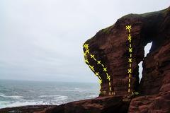 Rock Climbing Photo: View of the Garrett routes Mushroom treatment is t...
