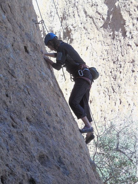 """Rock Climbing Photo: Enjoying a sunny winter day on """"Sophie's Choi..."""