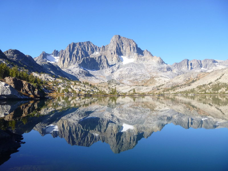 Rock Climbing Photo: Banner Peak from Garnet Lake