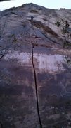 Rock Climbing Photo: Here's the crack from the base.