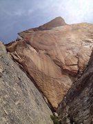 Rock Climbing Photo: The large blank diamond on the topo.