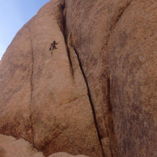 Rock Climbing Photo: Scary solo!