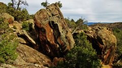 Rock Climbing Photo: Interim Boulder's south face, it's the one on the ...