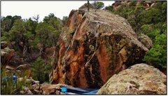 Rock Climbing Photo: Ode to Highway 141 problem beta.