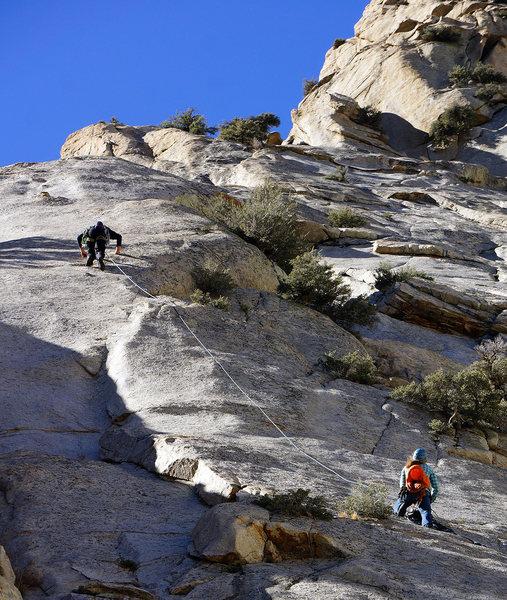 Rock Climbing Photo: Bill O. and Alana approaching the thin and crispy ...