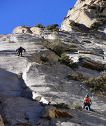 Rock Climbing Photo: Bill O. and Alana approaching the thin and crispy ...