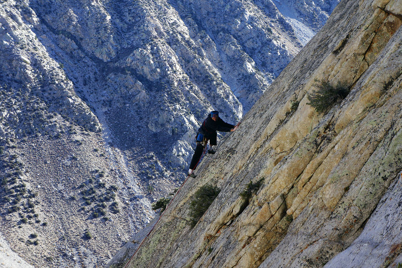 Rock Climbing Photo: Slab Master Darrell Hensel floating the crux on th...
