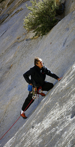Rock Climbing Photo: Darrell Hensel contemplating his newest slab creat...